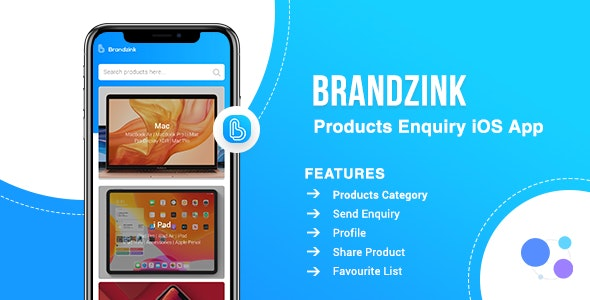 Brandzink Product Enquiry iOS App for Stores - CodeCanyon Item for Sale