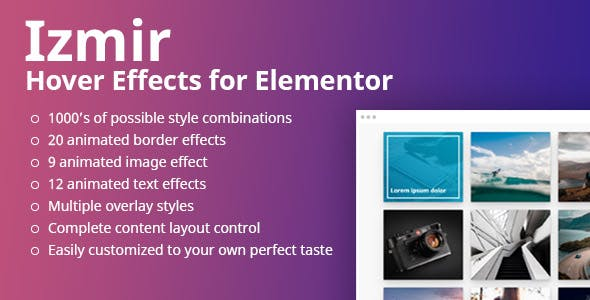 Izmir Hover Effects for Elementor