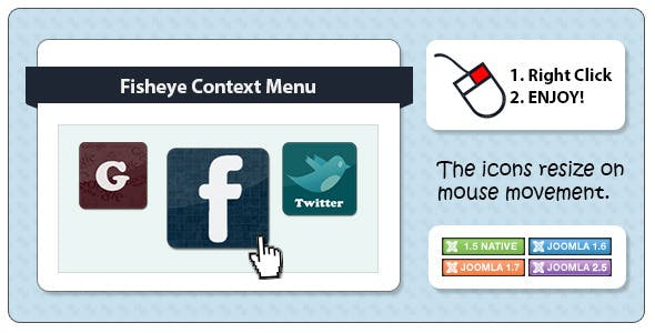 Fisheye Context Menu for Joomla