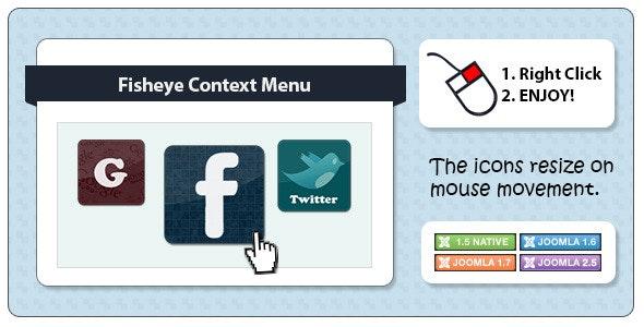 Fisheye Context Menu for Joomla - CodeCanyon Item for Sale