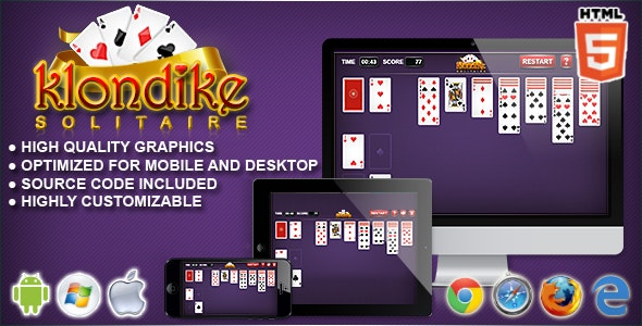 Klondike - HTML5 Solitaire Game - CodeCanyon Item for Sale