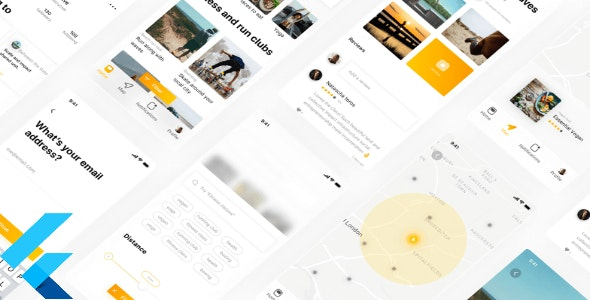 Flutter Flare: Activity and Fitness App UI - CodeCanyon Item for Sale