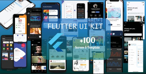Flutter UI KIT - template ( mobile app )