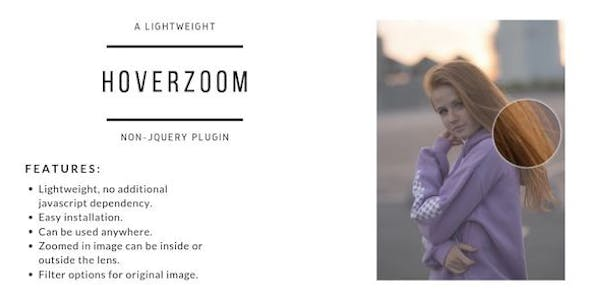 HoverZoom - Lightweight Non-JQuery Plugin
