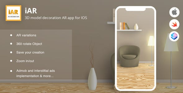 iAR - 3D model decoration AR app for IOS