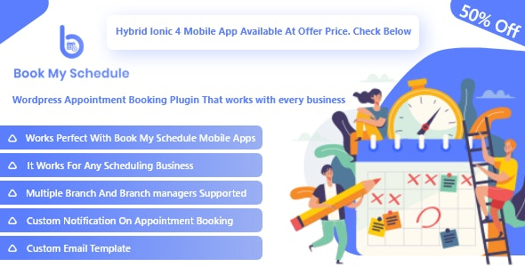 BookMySchedule Appointment Booking and Scheduling  Wordpress Plugin with Mobile Apps - CodeCanyon Item for Sale