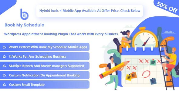 BookMySchedule Appointment Booking and Scheduling  Wordpress Plugin with Mobile Apps