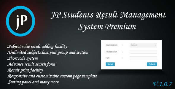 JP Students Result Management System Premium