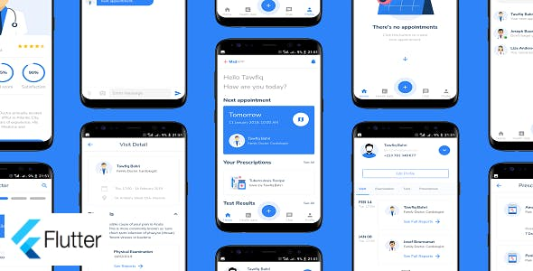 Flutter MedAPP: Medical Appointment Booking App UI