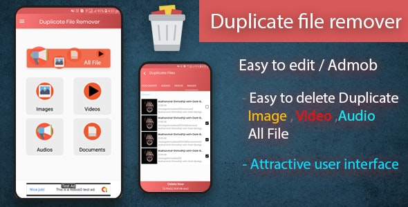 Duplicate file remover native android app - CodeCanyon Item for Sale