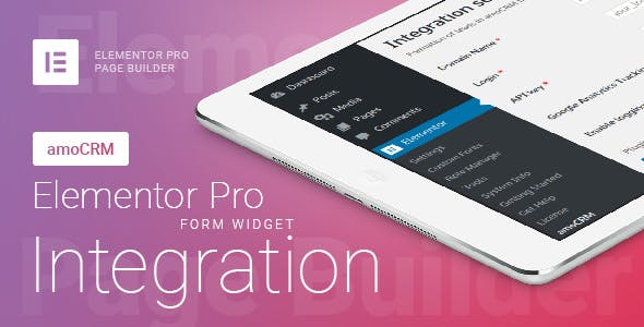 Elementor Pro Form Widget - amoCRM - Integration