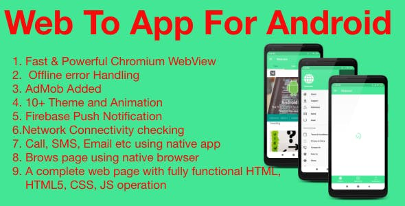 WebView - Web2App Android | Firebase & Admob