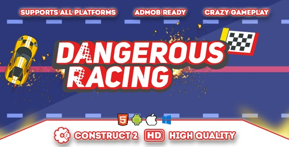 Dangerous Racing - HTML5 Game - CodeCanyon Item for Sale
