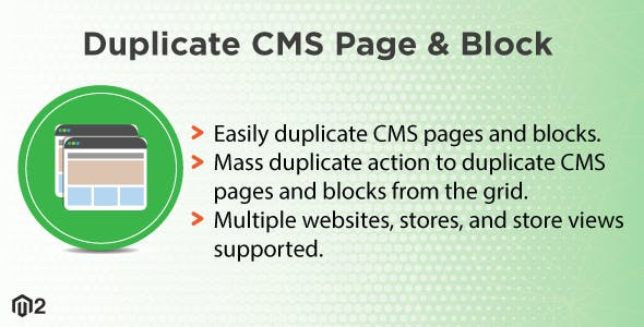 Magento 2 Duplicate CMS Page and Block