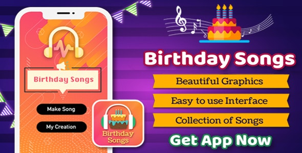 Birthday Songs maker - CodeCanyon Item for Sale