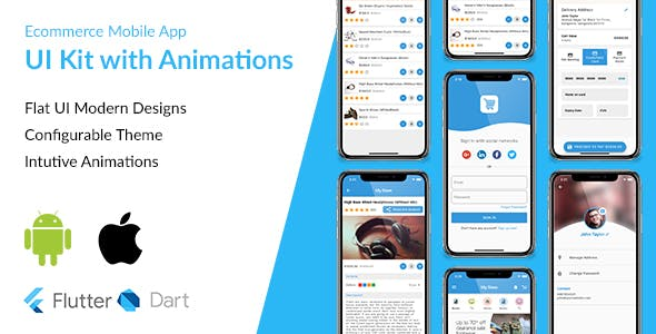 Ecommerce Flutter App UI Kit