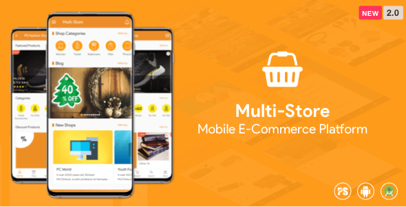Multi-Store ( Mobile eCommerce Android App, Mobile Store App ) 2.0 - CodeCanyon Item for Sale
