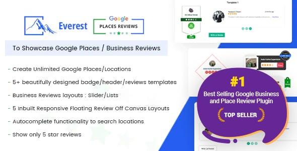 Everest Google Places Reviews - Best WordPress Plugin To Showcase Google Places / Business Reviews