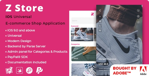 Z Store | iOS E-Commerce Shop Application with PayPal SDK - CodeCanyon Item for Sale