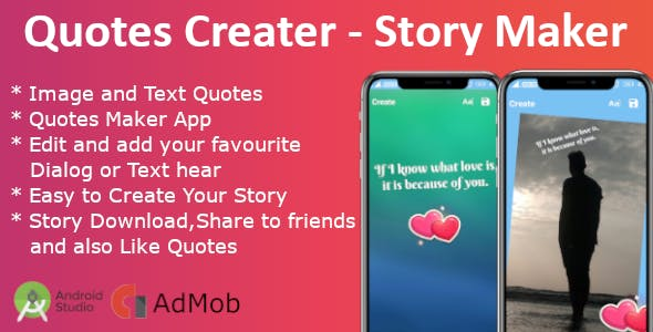 Quotes Creator & Story Maker, Story Creator
