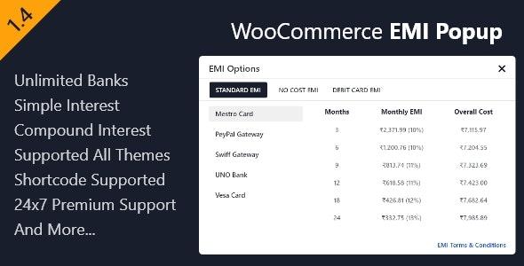 WooCommerce EMI Popup - CodeCanyon Item for Sale