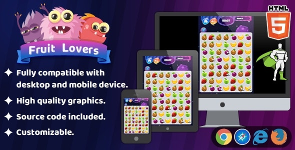 Fruit Lovers - HTML5 Matching Game