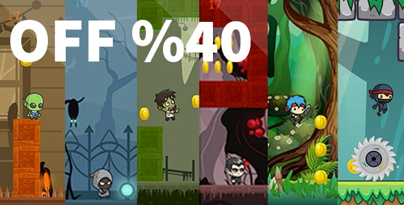 MEGA BUNDLE 6 RUNNER GAMES - IOS XCODE FILE WITH ADMOB - CodeCanyon Item for Sale