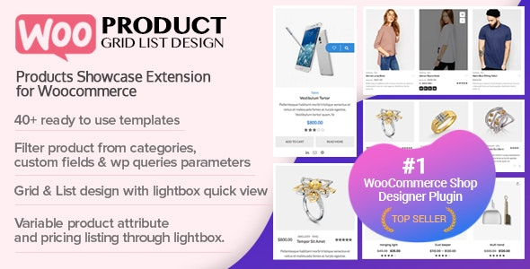 WOO Product Grid/List Design- Responsive Products Showcase Extension for WooCommerce - CodeCanyon Item for Sale