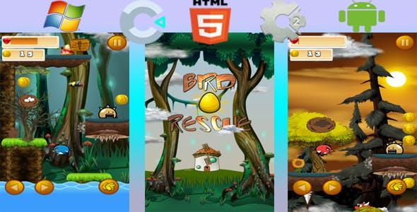 Bird eggs rescue - Html5 Game (Capx)