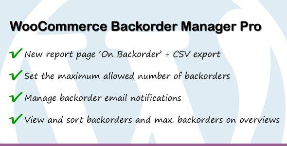 WooCommerce Backorder Manager Pro