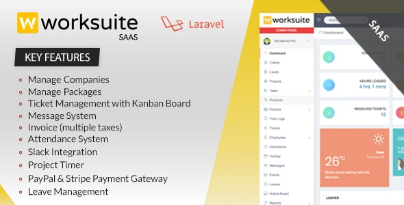 Worksuite Saas - Project Management System - CodeCanyon Item for Sale