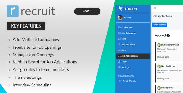 Recruit SAAS - Recruitment Manager