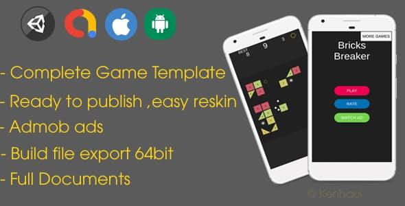 Bricks Breaker - Unity Game Template