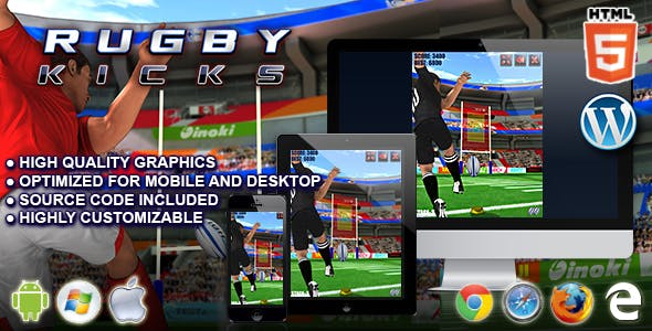 Rugby Kicks - HTML5 Sport Game