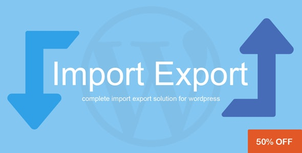 Wordpress Import / Export Plugin by Vjinfotech