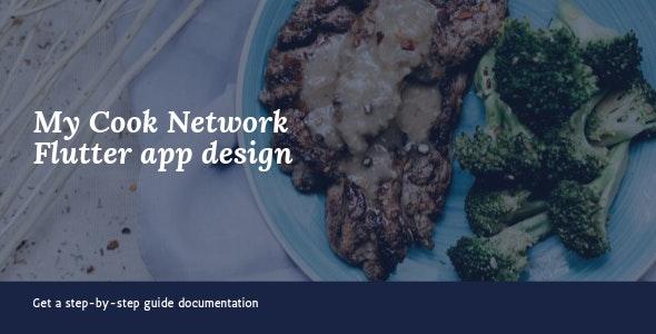 My cook network flutter UI app design - CodeCanyon Item for Sale