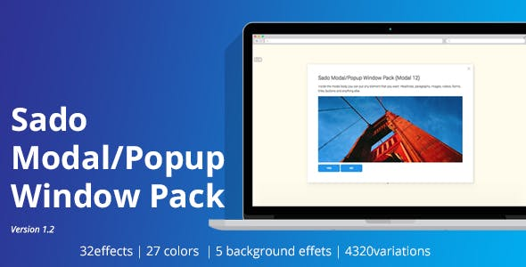 Sado Modal / Pop up Window Pack