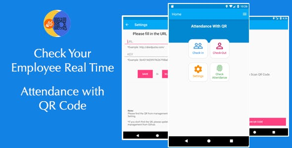 Attendance with QR code - Android + System Management