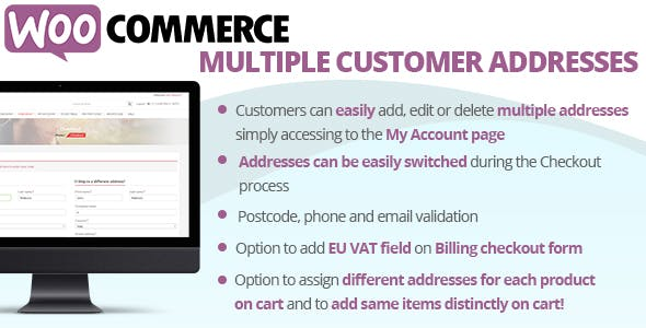 WooCommerce Multiple Customer Addresses by vanquish