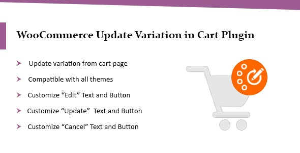 WooCommerce Update Variations in Cart Plugin