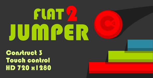 Flat Jumper 2 - HTML5 Game (Construct3)
