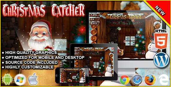 Xmas Catcher - HTML5 Arcade Game