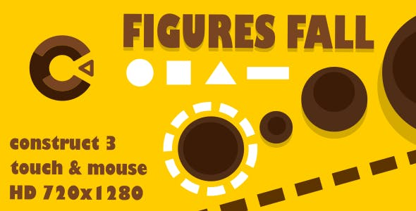 Figures Fall - HTML5 Game (Construct3)
