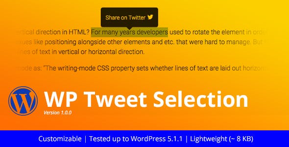 WP Tweet Selection | Twitter Highlighter