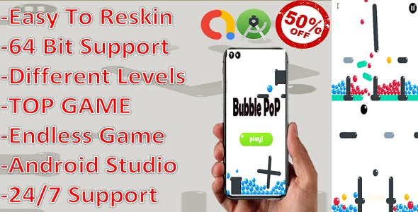 Bubble Pop(complete game+admob+android) With Developer Account transfer.
