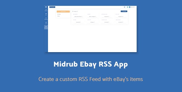 Midrub Ebay RSS - Create RSS Feeds with Ebay's Products - CodeCanyon Item for Sale