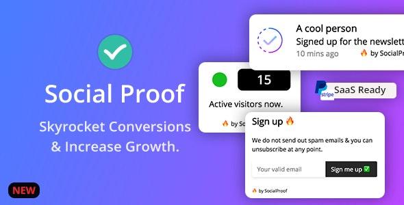 Social Proof - Skyrocket Conversions & Growth ( SaaS Platform ) - CodeCanyon Item for Sale