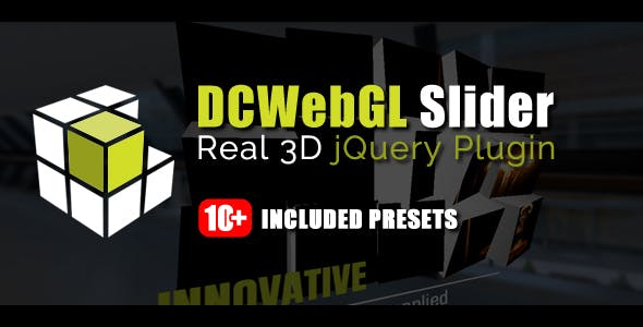 DCWebGL Slider - Real 3D jQuery Plugin