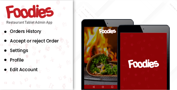 Foodies - Android Native Order Taking  Restaurant App - CodeCanyon Item for Sale