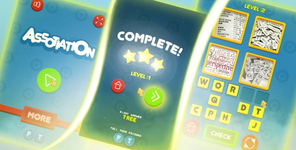 Assotiation - HTML5 game, mobile, AdSense ready